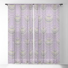 Waves of stripes Sheer Curtain by coenna Sheer Curtains, Window Curtains, Little Plants, Golden Hour, Curtain Rods, Filter, Glow, Waves, Stripes