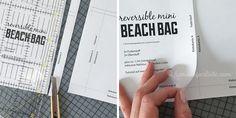 """Hamburger Liebe: Tutorial Tuesday: eine ideale Begleiterin für den kleinen Strandgang – die """"Reversible Mini Beach Bag"""""""