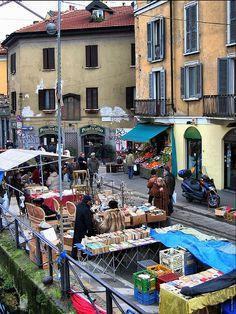 Flea Market, Navigli, Milan by photphobia