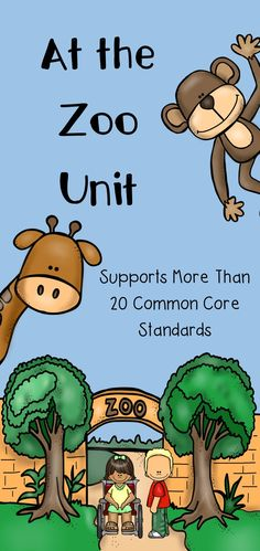 Looking for a way to be sure your thematic zoo unit supports the new common core state standards? This unit contains TONS of zoo activities that support the common core standards for kindergarten. Each page has the standard noted at the bottom for easy reference.                                                                                                                                                                                 More