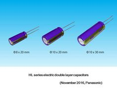 HL series electric double layer capacitors