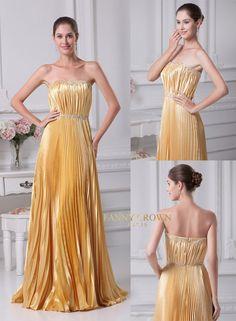Magical strapless golden dress
