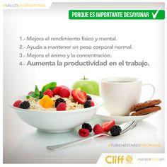#SaludOcupacional Porque tu bienestar es prioridad. Conoce las ventajas de un desayuno balanceado todos los días
