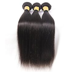 Oriental Show 8~30 inches 6A Brazilian Silky Straight, Pack of 3(Mixed Length), 100% Unprocessed Virgin Human Hair, 300g Total(100g Each), Natural Color (18 20 22) >>> Read more  at the image link.