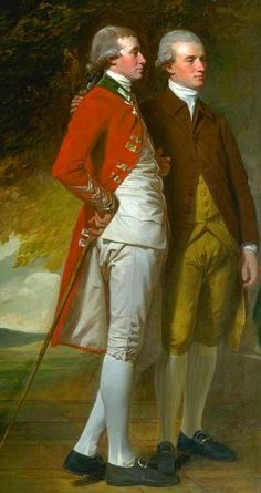 Detail from The Beaumont Family, 1777/9 by George Romney.