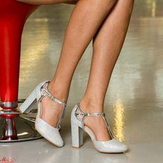 Pantofi cu Toc XKK150 Silver Mei Stiletto Heels, Pumps, Silver, Gold, Shoes, Fashion, Moda, Zapatos, Money