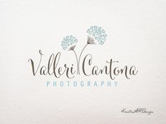 Photography Logo - Customized for any business logo - Premade Photography Logos- Flower logo-Dandelion logo-Watermark 137 Best Photography Logo, Photography Business, Text Design, Logo Design, Design Cars, Logo Inspiration, Leon Logo, Logo Fleur, Crea Design