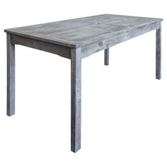 Vifah Renaissance Outdoor Hand Scraped Rectangular Table   Gray : Target