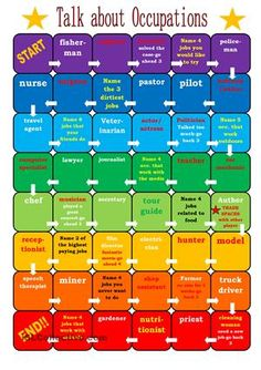 Talk About Occupations Board Game