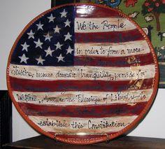 i just found my momu0027s pottery on pinterest ) u003c333 ... & 16 Piece Lillian Vernon Patriotic American Flag Americana Country ...