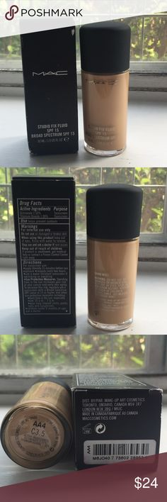 Mac studio fix fluid C3.5 Mac studio fix fluid foundation in C3.5. Brand new in box. 100% Authentic. Please know your shade before purchasing. NO TRADING. Please also ask any questions prior to purchasing. Thank you ;) MAC Cosmetics Makeup Foundation
