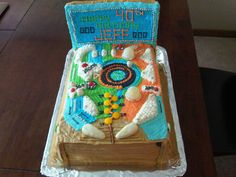 i'm a pinball wizard...fully edible pinball machine cake created for a man's 40th birthday...