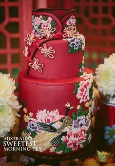 中国婚礼文化, Chinese wedding cake.