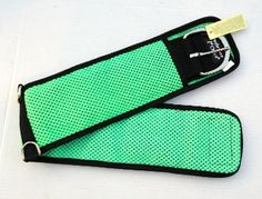 """33"""" Air Flow Neoprene Cinch in lime green available at www.msaddles.com. #horses #tack"""