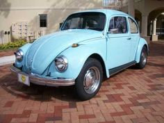 Identical to my 1969 VW Beetle, my first car purchased on my own.  Brand new, baby blue and she smelled delicious. My car payment was a whopping  66 bucks per month!!!!!