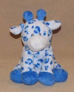 2006 Ty Blue Pluffies Giraffe Baby TipTop Plush Beanie Stuffed Toy Tip Top Boy #Ty