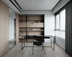 Modern Concept 01 | Apartment | 2019 - Dezign Ark (Beta) Study Room Design, Design Studio Office, Modern Home Interior Design, Minimalist Office, Home Office Decor, Home Decor, Office Interiors, House Design, Behance