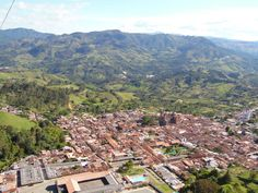 Panorámica desde nubes Jerico Antioquia Colombia