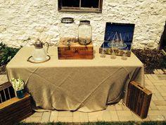 Lemonade and ice tea station at the barn!