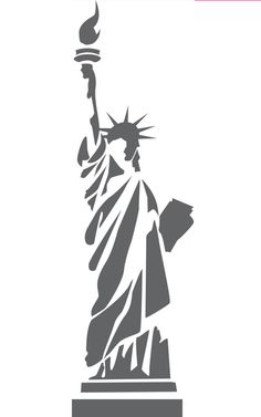 Statue of Liberty stylized - /American_History/famous_places/Statue_of_Liberty/Statue_of_Liberty_stylized. Stencils, Stencil Art, Kirigami, Inkscape Tutorials, Stencil Patterns, Silhouette Art, Scroll Saw Patterns, Silhouettes, Pyrography