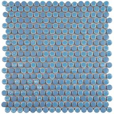 SomerTile 12.25x12-in Penny 3/4-in Cobalt Blue Porcelain Mosaic Tile (Pack of 10) - Overstock™ Shopping - Big Discounts on Somertile Wall Tiles