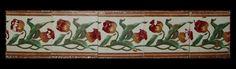 """Cercadura (friso) de azulejos Arte Nova """"Tulipas"""""""