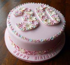 30th Birthday Cake...cute