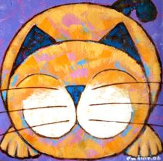 Playful Pouncing Painting at ArtistRising.com I want to make one to look like lucy and add 3 little kittens!!