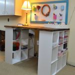 """great site for diy projects from all """"the stores"""". love this craft set up all though its a bit high for use as a sewing table"""