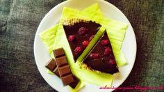 Czekoladowo - kawowa Tarta z malinami Cheesecake, Food, Cheesecakes, Essen, Meals, Yemek, Cherry Cheesecake Shooters, Eten