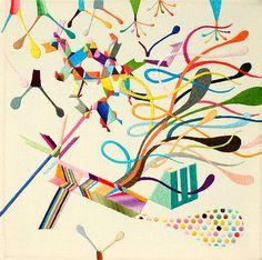Takashi Iwasaki   Cosmic Embroideries of Colour inspiration