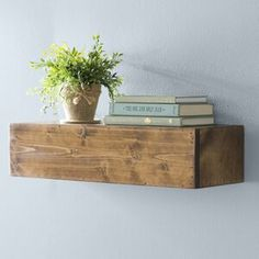 Laurel Foundry Modern Farmhouse Jensen Wood Floating Shelf Laurel Foundry Modern Farmhouse Size: H x W x D Decor, Floating Wall Shelves, Display Shelves, Floating Shelves, Floating, Fireplace Mantel Shelf, Fireplace Shelves, Country Kitchen Designs, Country House Decor