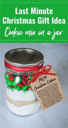 M&M Cookie Mix in a Jar - With Free Printable Recipe Tag - Pjs and Paint