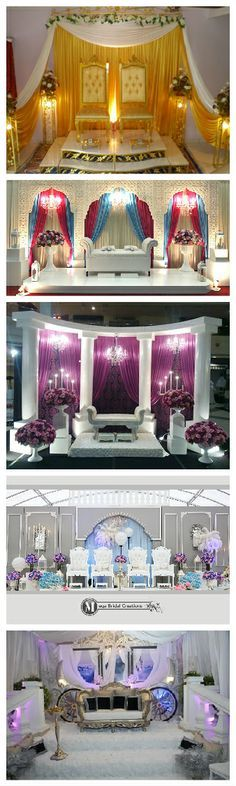 #1 - MALAY WEDDING  Malay wedding is full of decorations and over the top.   Pelamin or Dais or Altar or whatever you want to call it. The bride and groom will sit here together throughout the celebration. The family member will sprinkle a rose extract water as a symbol of blessing.