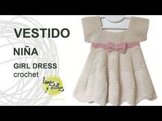 Tutorial Vestido Crochet o Ganchillo Niña ZigZag - YouTube