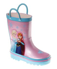 Look at this #zulilyfind! Josmo Frozen Pink & Blue Rain Boot by Josmo #zulilyfinds