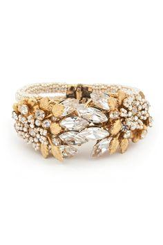 "Awesome bracelet, Miriam Haskell ""The Secret Garden Cuff"", www.renttherunway.com"