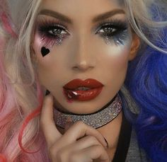 Looking for for ideas for your Halloween make-up? Browse around this website for creepy Halloween makeup looks. Unique Halloween Makeup, Halloween Kostüm, Joker Halloween Makeup, Joker Makeup, Halloween Costumes, Movie Makeup, Halloween Inspo, Cat Costumes, Meme Costume