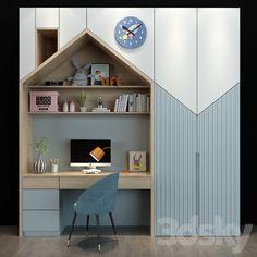 Modern Kids Bedroom, Cool Kids Bedrooms, Kids Bedroom Designs, Kids Room Design, Home Room Design, Home Office Design, Bedroom Decor For Couples, Boys Bedroom Furniture, Kids Furniture