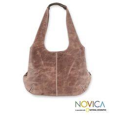 4d8baf1b4c69 Handmade Leather  Urban Honey  Large Hobo Handbag (Mexico) Purse Wallet