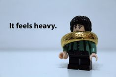 It feels heavy... lego humor