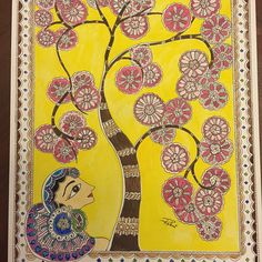 Madhubani art form - just completed a 3 day workshop - feels awesome to be painting again. #madhubani , #indiandesigns , #indian #PoAntiqueWeek9 #tree #flowers #Cherryblossoms #nature #endowment_explora  #pinkandyellow