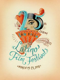 My poster made for 25th San Diego Latino Film Festival Poster Competition. This project has been selected as one of the Top 10 Finalists.