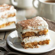 Classic Tiramisu - Ahh, tiramisu. The iconic Italian dessert continues to evoke oohs and ahhs, thanks to its addictive layers of liqueur-soaked ladyfingers and fluffy mascarpone cheese. Dust the dreamy dessert in cocoa powder to finish.