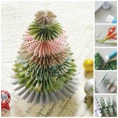 paper rosette Christmas tree.