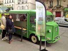 Citroën HY food truck. The modern version of the famous Coca Cola truck. Now promoting the new product: Coca Cola Life. Less sugar through the use of stevia.