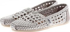 TOMS 10004977 CLASSIC SILVER SATIN WOVEN