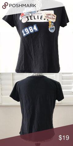 "ZARA dark blue road trip patch shirt small Cute road trip inspired shirt.  Pit to pit 18.5"" Sleeve 4.5"" Shoulder 16"" Length 21"" Zara Tops Tees - Short Sleeve"