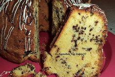 Ένα υπέροχο μαλακό και αφράτο κέικ με κορν φλάουρ και τυρί κρέμα!!!  Η υφή του είναι συμπαγή χωρίς αυτές τις τρύπες ενός κλασικού σπιτικού κέικ και αυτό οφειλεται στο κορν φλάουρ!!!  Παίρνει αμέτρητες παραλλαγές,εγώ αυτή τη φορά Greek Sweets, Greek Desserts, Greek Recipes, My Recipes, Cake Recipes, Cooking Recipes, Recipies, Greek Cake, Cooking Cake