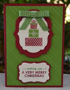 Wishing You Swap, Stylish Stripes Embossing Folder, Christmas Cards, Stampin' Up!